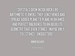 Crystals grew inside rock like arithmetic flowers. They lengthened ... via Relatably.com