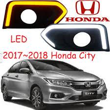 Us 700 Car Stylingcity Fog Lamp2014201620172018yearchromeledfree Shipcity Head Lightcar Coverscity Daytime Light In Car Light Assembly