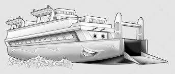 Kleurplaat Boot Stockfoto Illustratorhft 53597407