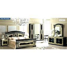 Gold Bedroom Set Gold And Black Furniture Bedroom Set In Black With ...