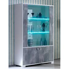 merida wooden display cabinet in white