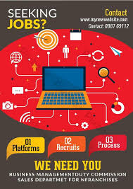 Flyer Jobs Seeking Job Black And Red Business Flyer Template Psd Free