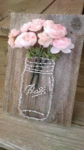 6 rustic mason jar string art fl display