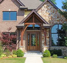 Small Picture canopy over entrance front entrance over hang stone home wood