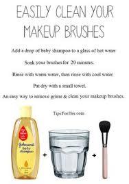 how to clean make up brushes raindropstosunshine
