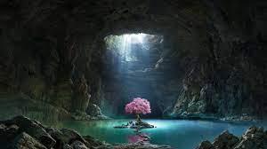 2560x1440 Cave Lake 1440P Resolution ...