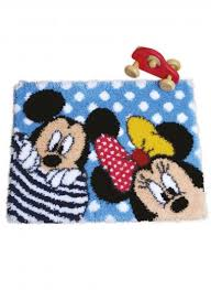 mickey and minnie mouse latch hook rug kit 54 cm x 68 cm