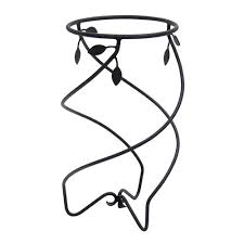 achla designs helix ii wrought iron flowerpot stand achla designs wrought iron
