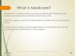 Medicare eligibility starts at age 65, but you can get medicare before you reach age 65 if you meet certain qualifications. What Is Medicare Medicare Is A Federal Health Insurance Program Administered By The Centers For Medicare And Medicaid Services Cms Cms Is An Agency Ppt Download