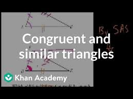 Aa stands for 'angle, angle'. Ca Geometry More On Congruent And Similar Triangles Video Khan Academy
