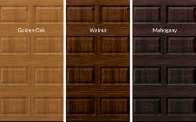 stained garage door options