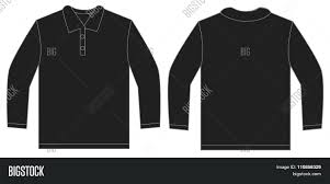 Free T Shirt Template Template Vector Polo Shirt Template Black Long Sleeve Design Free T