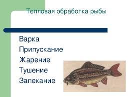 Приготовление блюд рыбы технология девочки презентации Тепловая обработка рыбы Варка Припускание Жарение Тушение Запекание