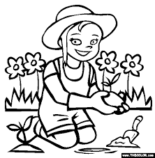 Small Picture Gardening Coloring Page Free Gardening Online Coloring