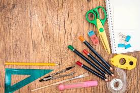 school desk top view. Wonderful View Stock Photo  Top View Of School Accessories On A Desk To School Desk View I