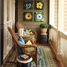 Warm Small Balcony Design