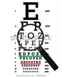 Eye Vision Test Poor Eyesight Myopia Stock Vector Royalty