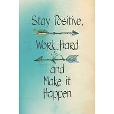 Inspirational Quote Stunning Amazon ICandy Combat Stay Positive Work Hard And Make It Happen