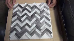 how to cut mosaic tile made of metal and glass
