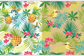 Summer Pattern Magnificent Tropical Summer Card And Pattern By Mio Buono TheHungryJPEG