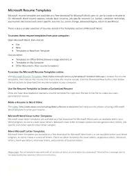 Resume Format Word File Sample Resume Format Word Document Simple ...