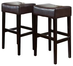 gdf studio duff backless leather bar stools set of 2 transitional bar stools and counter stools by gdfstudio