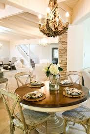 austin round kitchen tables with chic style wall mirrors dining room shabby chic and rustic