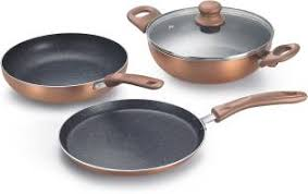 Prestige Omega Festival Pack   Build Your Kitchen Induction Bottom Cookware  Set