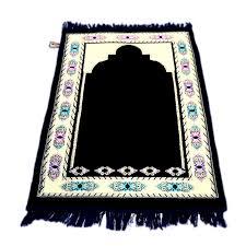 made in turkey beautiful blackish blue janamaz prayer rug