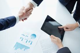 Business Paper Paper And A Handshake Character Table 50308 Business Class People
