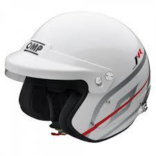 Omp J R Hans Open Face Helmet White