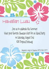 luau birthday party invitation wording hawaiian