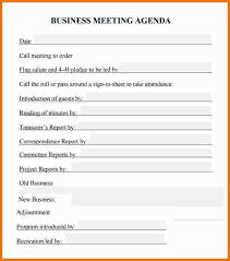 Work Meeting Agenda Business Agenda Template Business Meeting Agenda Template