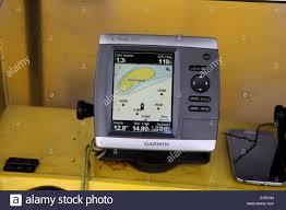 Garmin Stock Chart Garmin Sonar Fish Finder And Chart Plotter Mounted On Boat