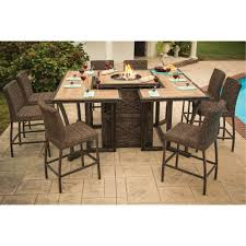 fire pit dining table. 11 Piece Outdoor Patio Fire Pit Dining Set - Franklin | RC Willey Furniture Store Table