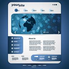 website templates download free designs blue style website template vector 01 vector web design free