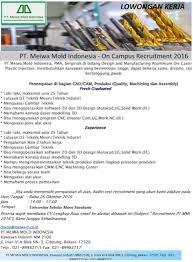 Mfg & wholeshole of industrial metal, rubber, resin, fiber packings, etc. Lowongan Kerja Pt Meiwa Mold Indonesia Ditutup 26 Oktober 2016 Lowongan Kerja Batam 2021