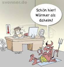 Cartoon Sommerhitze Im Büro Lustige Bilder Hitze Lustig Lustige