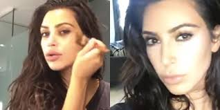 kim kardashian s makeup routine is everything you hoped for and more