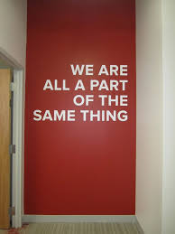 inspiration for one wall with our mission statement to give every woman then means to artwork for office walls