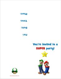 make your own birthday invitations free printable super mario bros free printable birthday party invitation