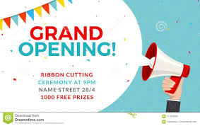 Free Grand Opening Flyer Template Grand Opening Flyer Banner Template Marketing Business Concept With
