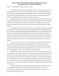 Essay About Myself Examples Sample Of College Yourself