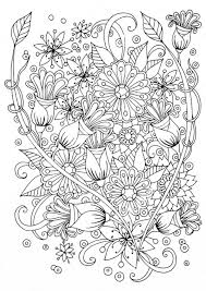 Coloring Pages Flower Coloring Book Pages Free Printable Page For