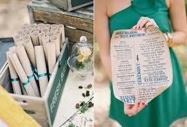 Wedding Program Scroll 7 Pretty Perfect Wedding Program Ideas Wedding Programs