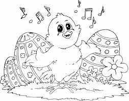 Chick And Music Coloring Pages Printable