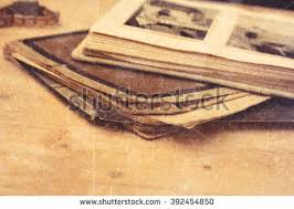 old book and phonographs with a texture overlay