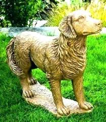 yellow lab statue chocolate garden statues ornaments golden retriever life size ornament labrador