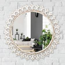 ornate carved wall mirror antique