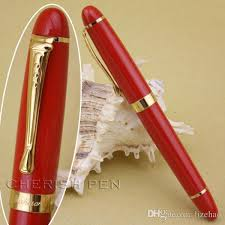 the best gift pen jinhao x450 red color and golden broad nib ink steel gold metal brand fine founn pen pens student founn pen ink with